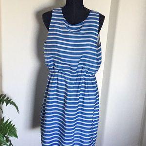 GIRL'S SIZE 14 J. CREW BLUE STRIPED DRESS